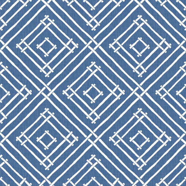Some of the most engaging patterns are those that take the familiar and spin the look -- like this bamboo-inspired lattice design by Madcap Cottage for York Wallcoverings, which lays up the traditional shapes in an engaging geometric pattern. It actually was inspired by an afternoon in Antigua, where bamboo dots the landscape.
