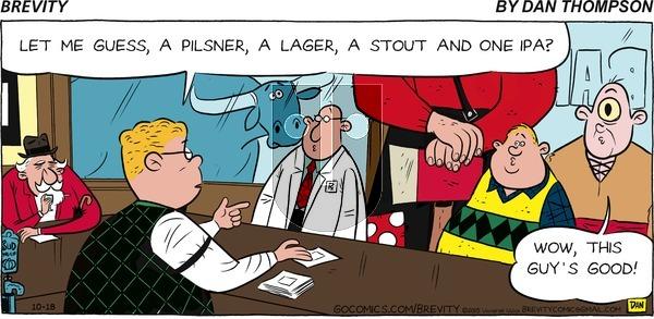 Brevity on Sunday October 18, 2015 Comic Strip