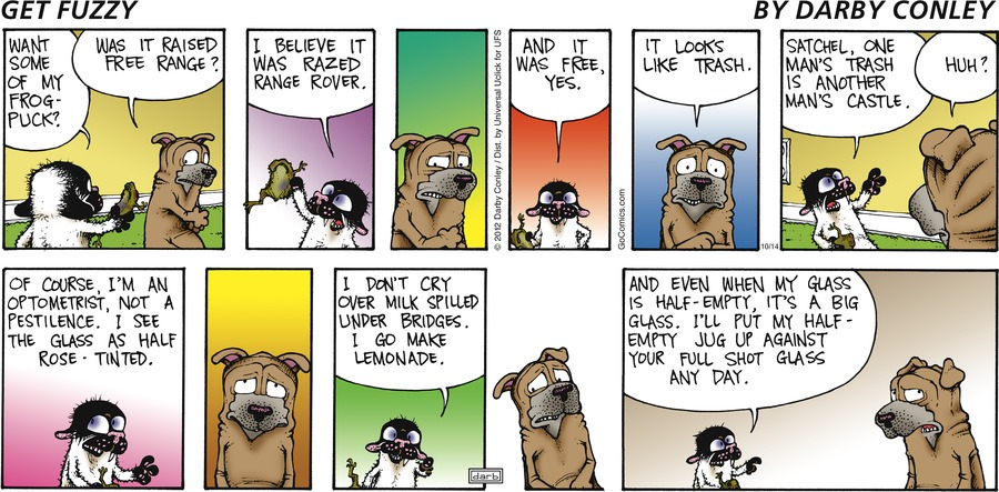 Get Fuzzy Comic Strip for October 14, 2012