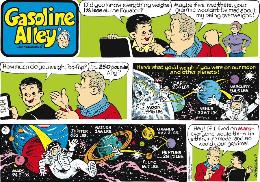 Gasoline Alley Comic Strip for February 07, 2021