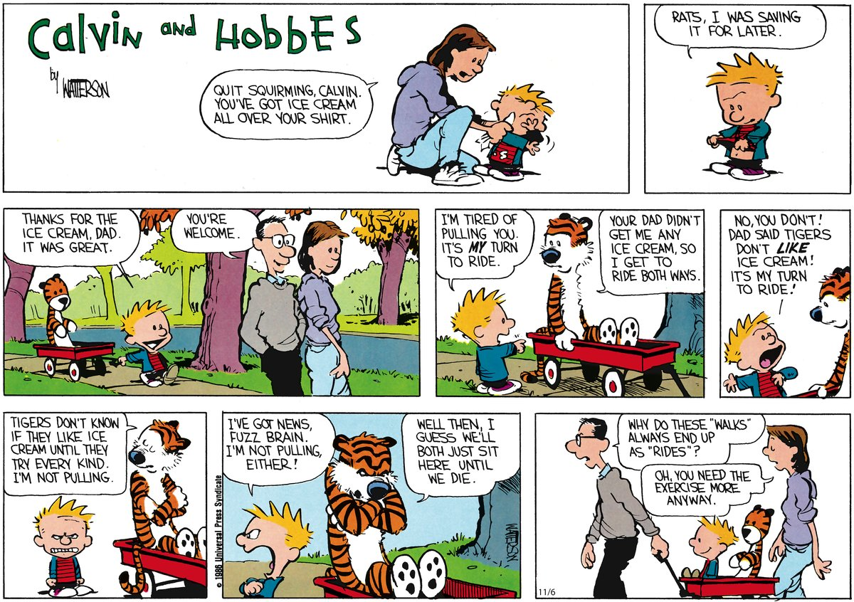 Calvin and Hobbes Comic Strip for November 06, 2011