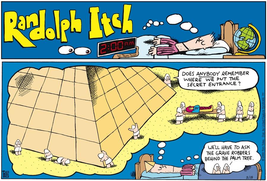 Randolph Itch, 2 a.m. Comic Strip for December 20, 2015