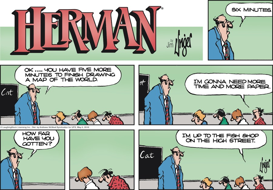 Herman by Jim Unger for May 05, 2019