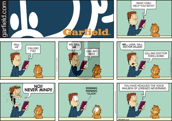 Garfield on Sunday March 24, 2019 Comic Strip
