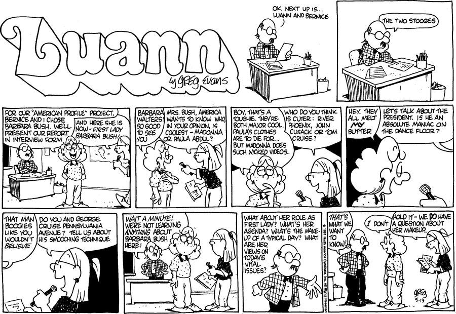 Luann Againn by Greg Evans for May 19, 2019