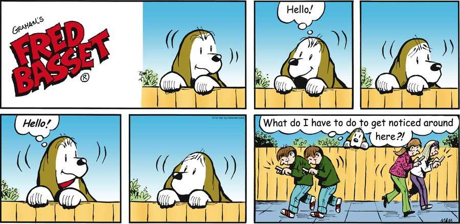 Fred Basset Comic Strip for November 10, 2013