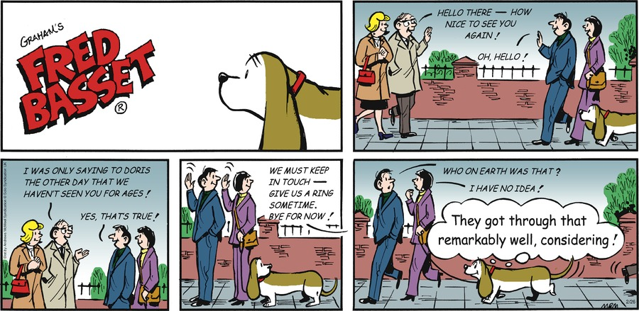 Fred Basset Comic Strip for February 26, 2017