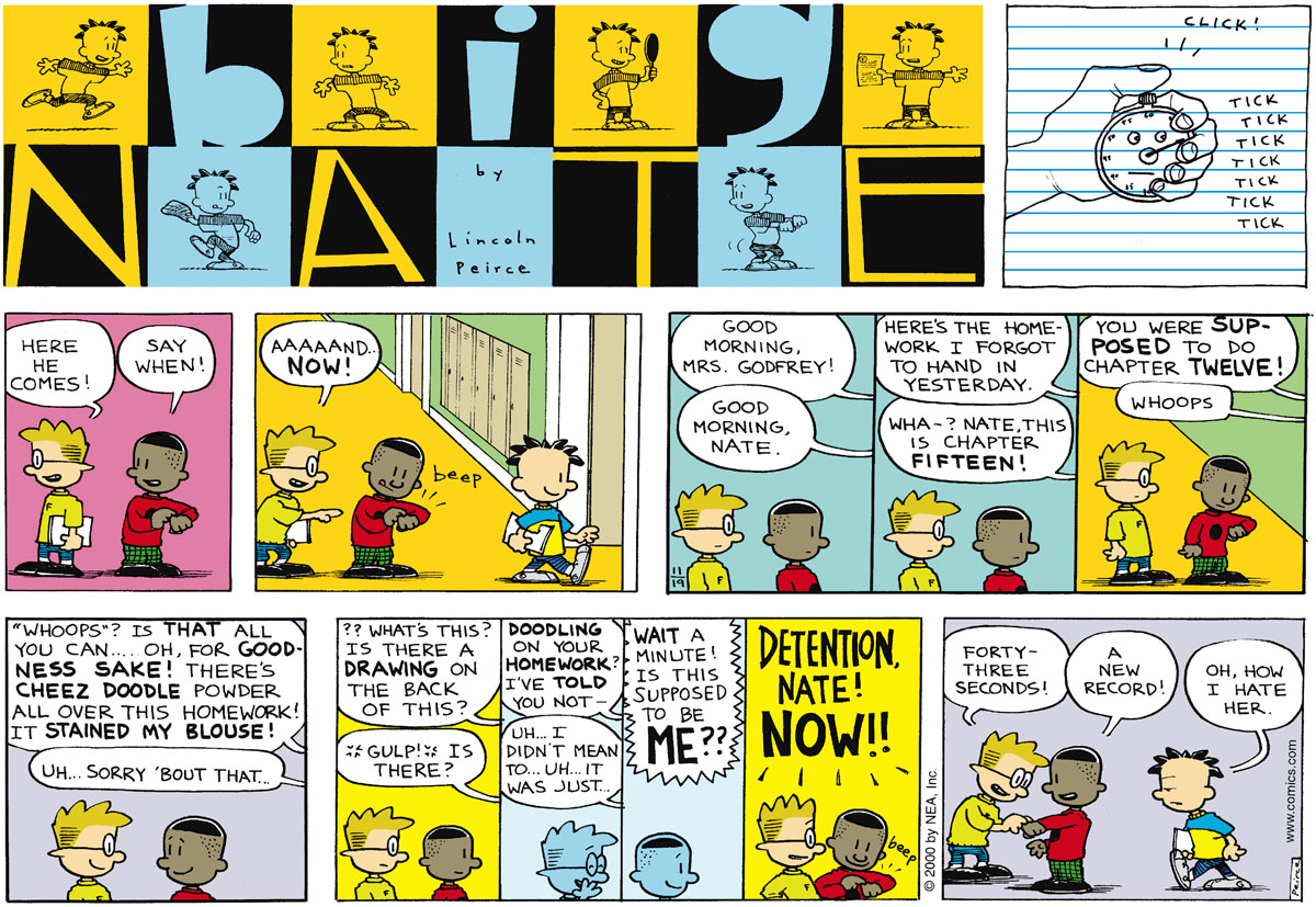 Big Nate Comic Strip for November 19, 2000