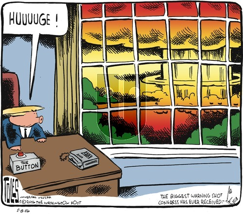 Tom Toles on Sunday May 8, 2016 Comic Strip