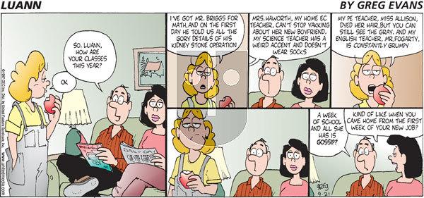 Luann - Sunday September 21, 1997 Comic Strip