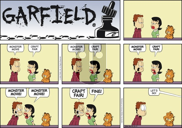 Garfield on Sunday May 17, 2020 Comic Strip
