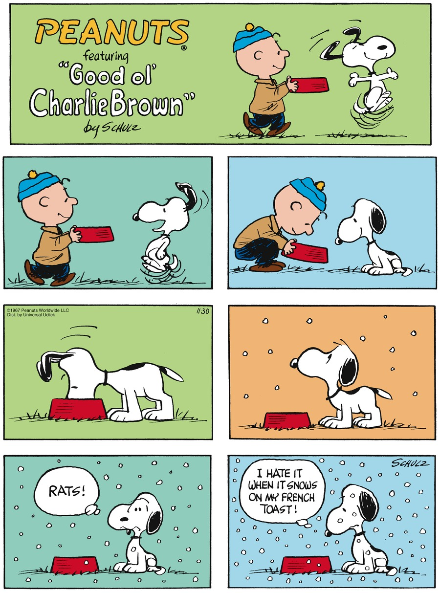 Peanuts Comic Strip for November 30, 2014