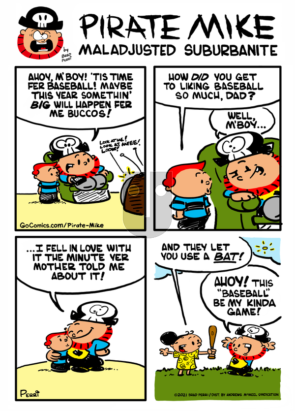 Pirate Mike on Friday April 9, 2021 Comic Strip