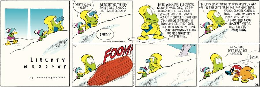 Liberty Meadows for Apr 21, 2013 Comic Strip