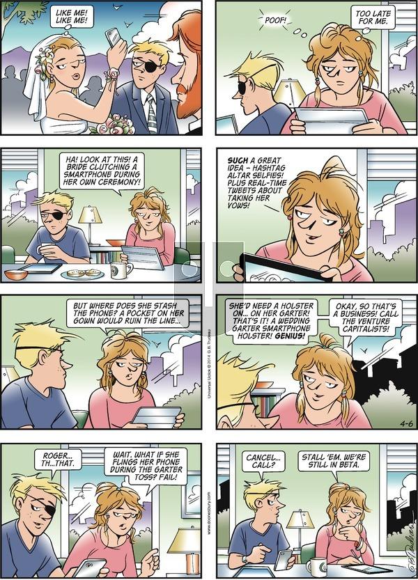 Doonesbury on Sunday April 6, 2014 Comic Strip