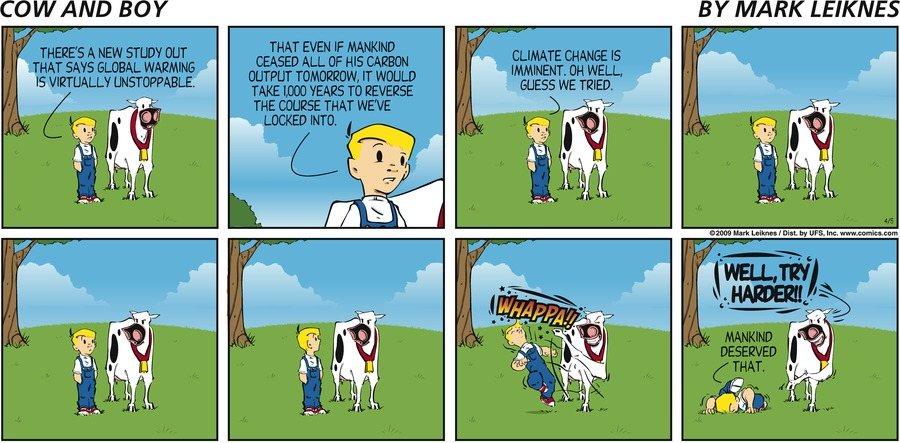Cow and Boy Classics Comic Strip for April 16, 2016