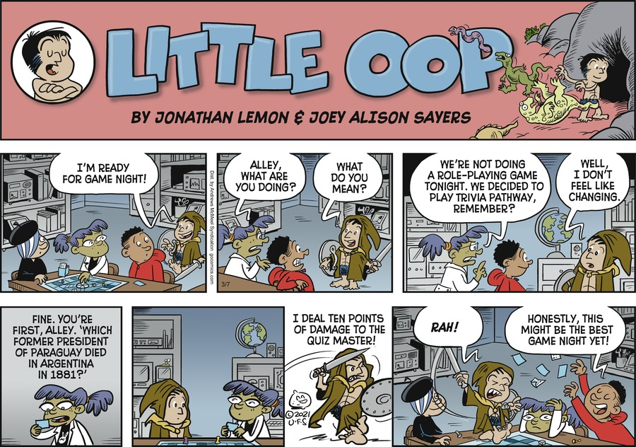 Alley Oop Comic Strip for March 07, 2021