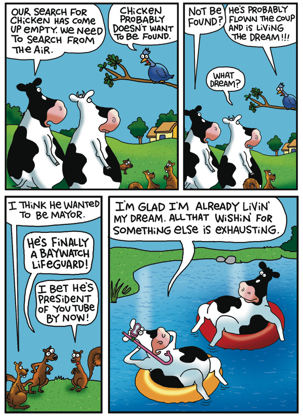 2 Cows and a Chicken Comic Strip for July 19, 2019