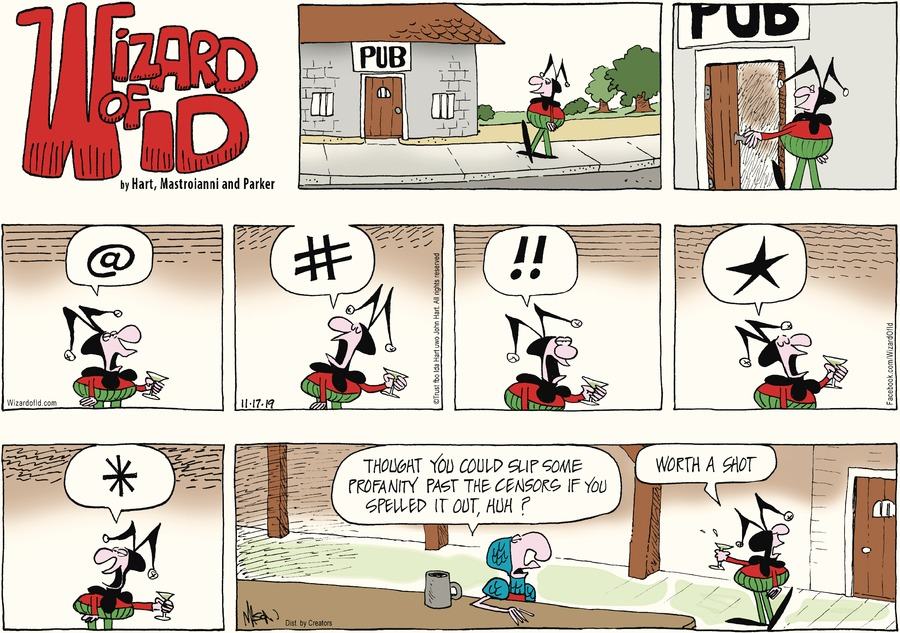 Wizard of Id Comic Strip for November 17, 2019