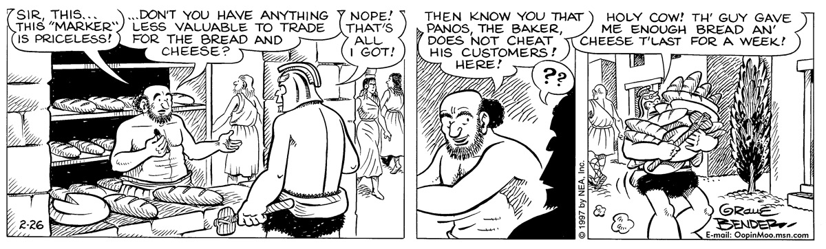 Alley Oop for Feb 26, 1997 Comic Strip