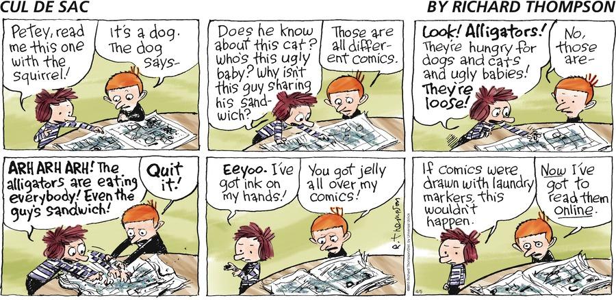 Cul de Sac Comic Strip for April 05, 2015
