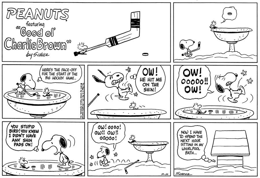 Peanuts Comic Strip for October 10, 1971