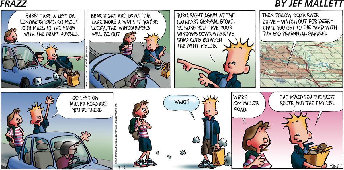 Frazz Comic Strip for July 18, 2004