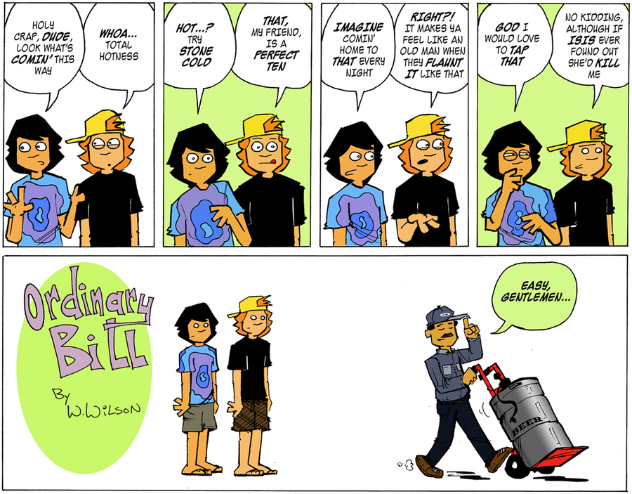 Ordinary Bill Comic Strip for July 15, 2012
