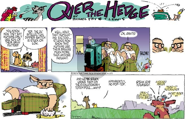 Over the Hedge on Sunday April 19, 2015 Comic Strip