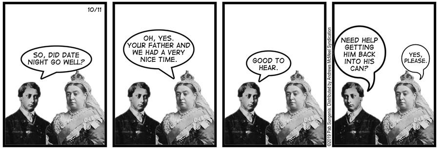 New Adventures of Queen Victoria Comic Strip for October 11, 2019