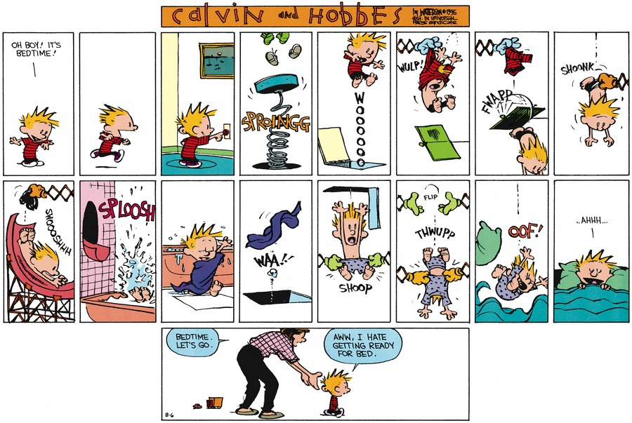 Calvin and Hobbes Comic Strip for August 06, 1995