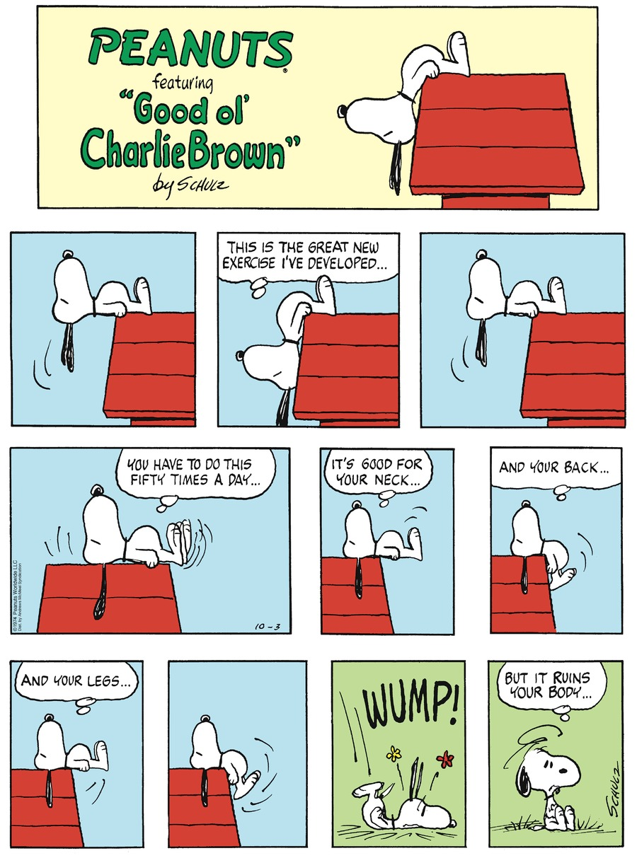 Peanuts by Charles Schulz on Sun, 03 Oct 2021