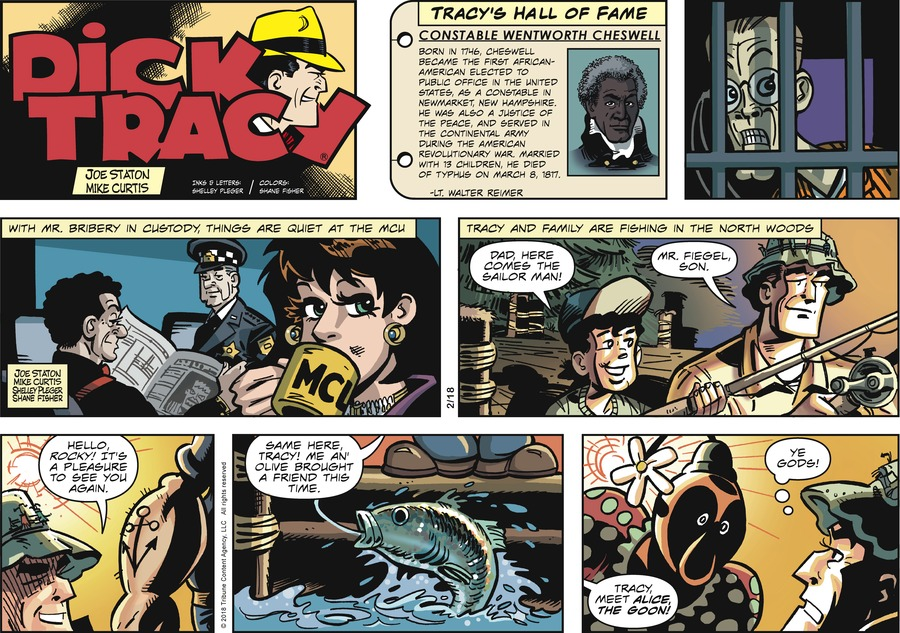 Dick Tracy Comic Strip for February 18, 2018