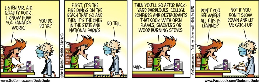 Dude and Dude for Apr 14, 2013 Comic Strip