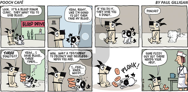 Pooch Cafe on Sunday June 19, 2011 Comic Strip