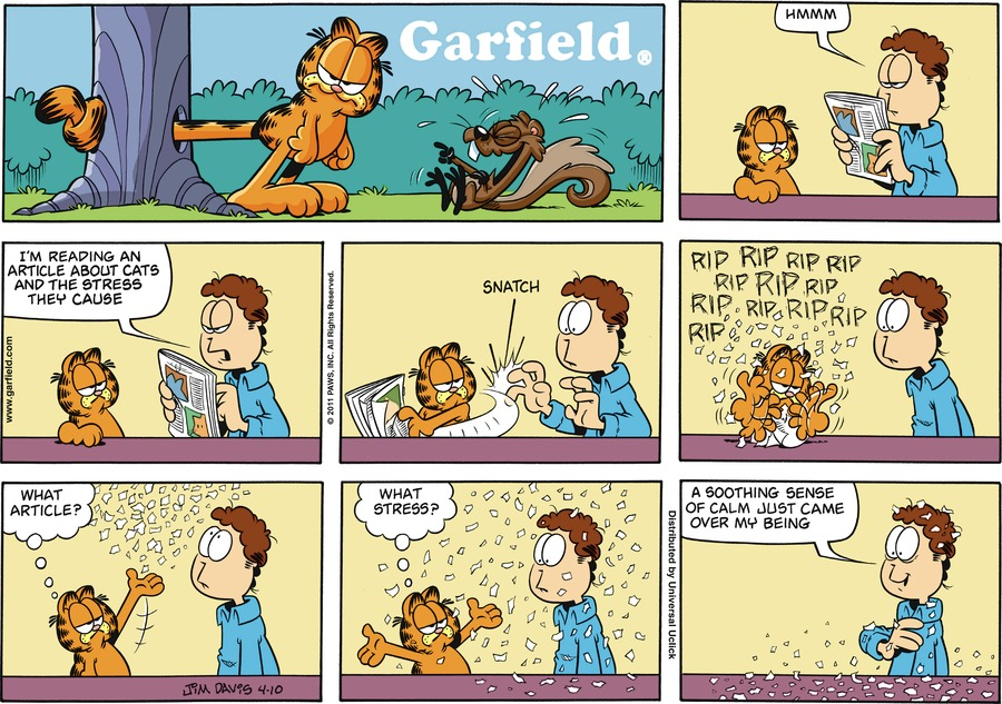 Garfield Comic Strip for April 10, 2011