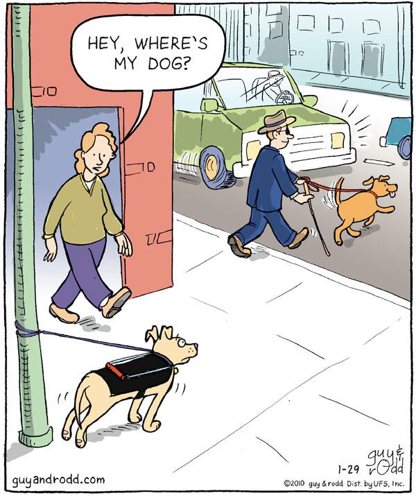 Woman: Hey, where's my dog?
