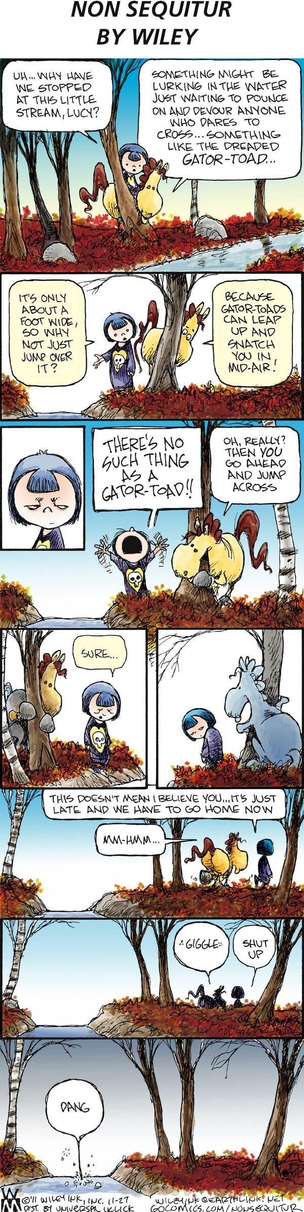 Non Sequitur Comic Strip for November 27, 2011