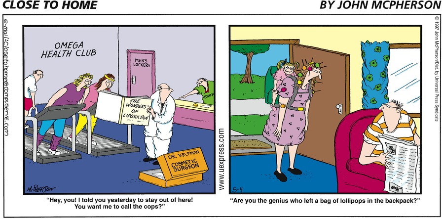 Close to Home for May 4, 1997 Comic Strip