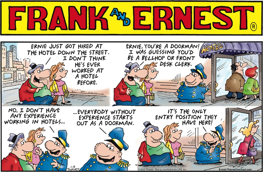 Frank and Ernest for Jan 13, 2013 Comic Strip
