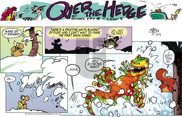 Over the Hedge on Sunday November 24, 2019 Comic Strip