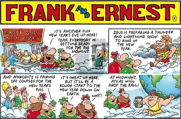 Frank and Ernest on Sunday December 27, 2015 Comic Strip