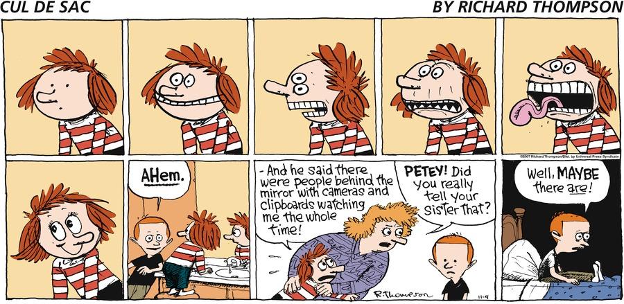 Cul de Sac for Nov 4, 2007 Comic Strip