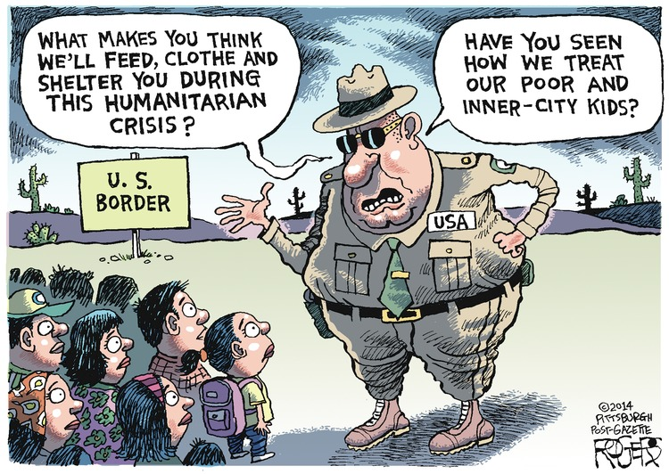 USA: What makes you think we'll feed, clothe and shelter you during this humanitarian crisis? Have you seen how we treat our poor and inner-city kids?