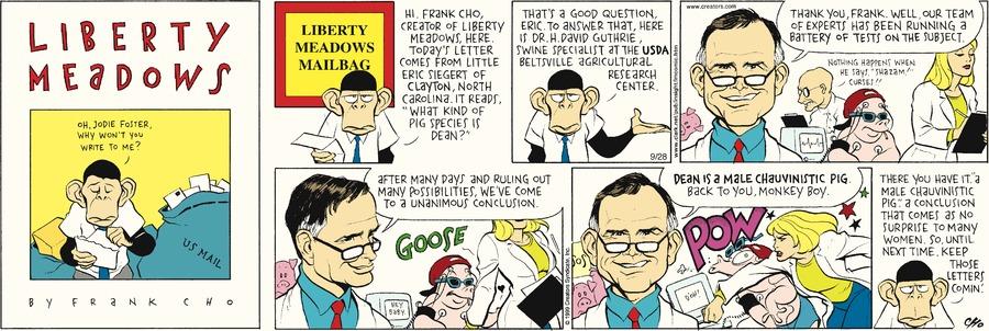 Liberty Meadows Comic Strip for September 28, 2014