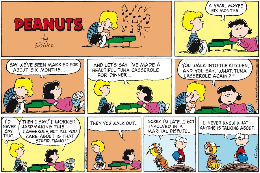 Peanuts Comic Strip for May 11, 1997
