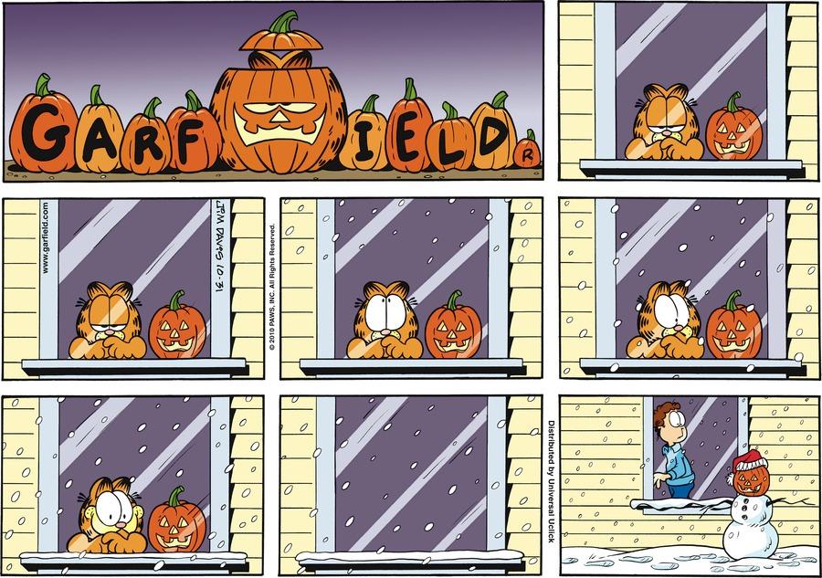 Garfield Comic Strip for October 31, 2010