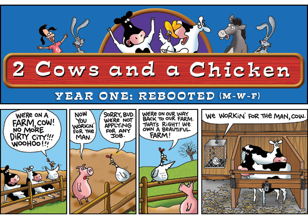 2 Cows and a Chicken for Apr 29, 2013 Comic Strip
