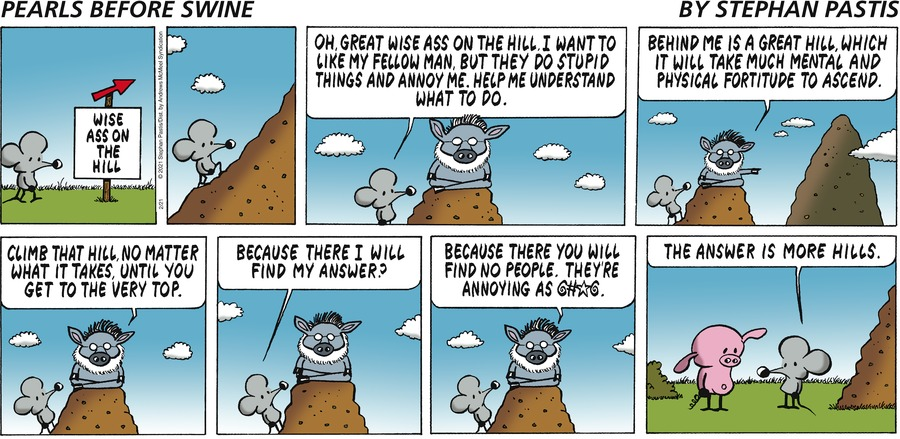 Pearls Before Swine by Stephan Pastis on Sun, 21 Feb 2021