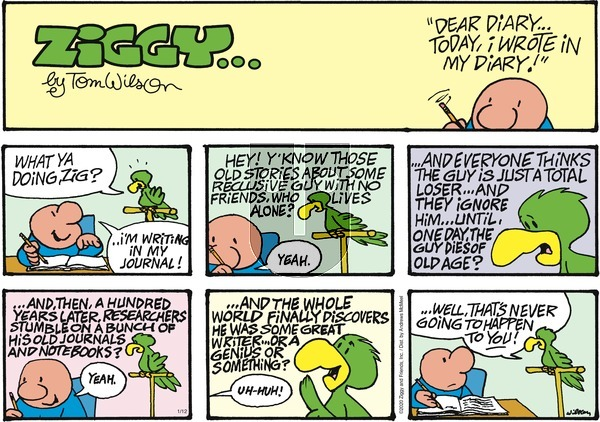 Ziggy - Sunday January 12, 2020 Comic Strip